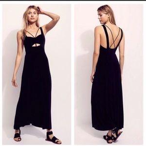 free people hypnotized black maxi dress
